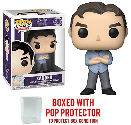 Funko Pop! TV: Buffy the Vampire Slayer 25th Anniversary - Xander Vinyl Figure (Bundled with Pop BOX PROTECTOR CASE) (Buffy The Vampire Slayer Oz And Willow)