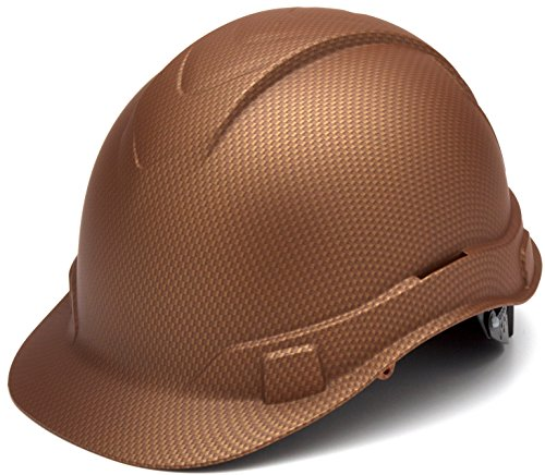 Pyramex Ridgeline Cap Style Hard Hat, 4 Point Ratchet Suspension, Copper Pattern by Pyramex Safety