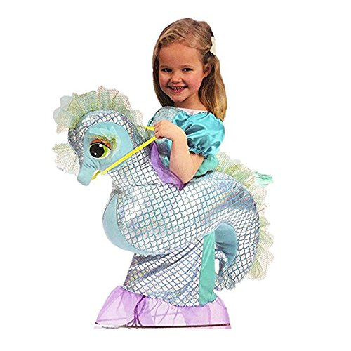 Kids Dress-Up Seahorse & Mermaid Riding Costume 3-7yrs