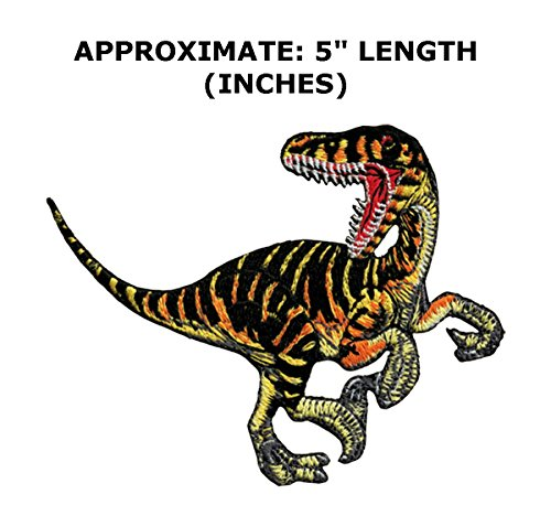 Captain Rex Costume Diy (Jurassic Park Dinosaur T-Rex Kids Adult Theme DIY Decorative Embroidered Applique Application Patch By Superheroes Brand)