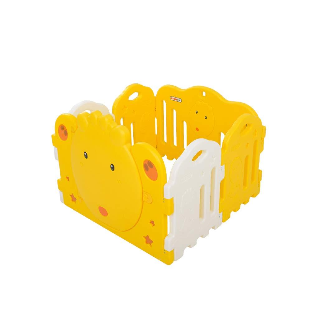 LIUFS-フェンス 子供のフェンスプラスチック4個の活動センター安全な遊び場ホーム屋内屋外 (色 : イエロー いえろ゜)  イエロー いえろ゜ B07L6V6ZXH