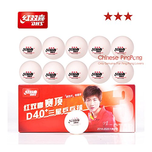 - DHS 3-Star D40+ Table Tennis Balls (3 Star, New Material 3-Star Seamed ABS Balls) Plastic Poly Ping Pong Balls