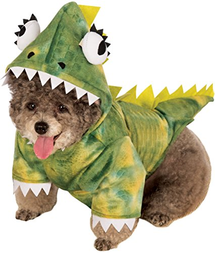 Rubie's Pet Costume, Large, Green Dinosaur Hoodie -