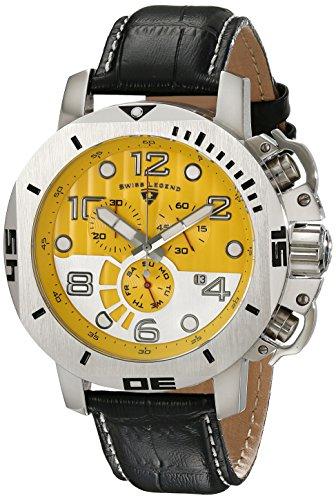 Swiss Legend Men's 10538-07 Scubador Chronograph Black Le...