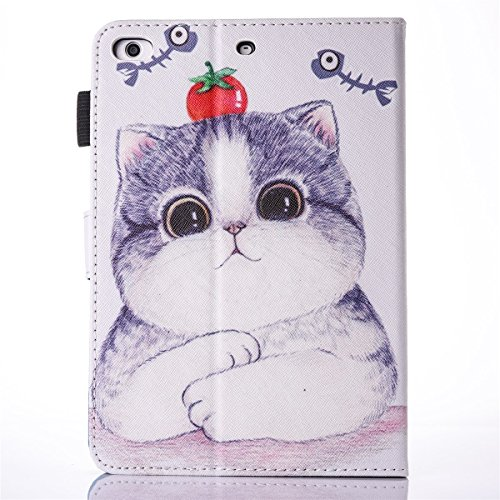 inShang iPad iPad Pro 9.7 Fundas soporte y carcasa para Apple iPad Pro 9.7 inch ((2016 Release) , smart cover PU Funda con Patrón de Diamante Tomato and Cat