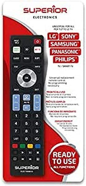 Superior Electronics - Mando a distancia universal Ready5 compatible con todos los televisores y Smart TV de las marcas LG, Samsung, Sony, Philips y Panasonic: Amazon.es: Electrónica