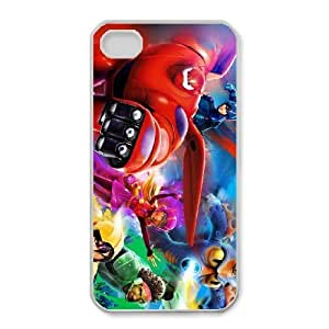 Fashion image DIY for iPhone 4 4s Cell Phone Case White Big Hero 6 team BAM2938095