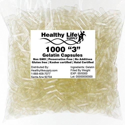 Empty Gelatin Capsules - 1000 Size