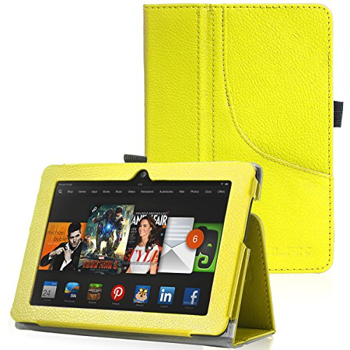 ULAK Kindle Fire HDX 7 Case Synthetic Leather Case Stand with Stylus Holder for Official Kindle Fire HDX 7 (7