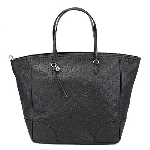 Gucci Brie Black Guccissima Leather Tote Bag 323671 Black Guccissima Leather