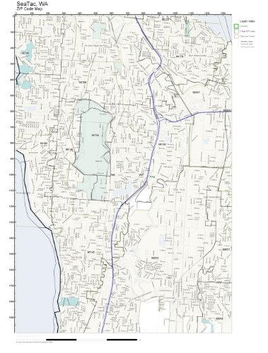 Amazon.com: ZIP Code Wall Map of SeaTac, WA ZIP Code Map ... on highline school district map, university place map, burien map, seattle map, parkland map, auburn university map, centralia map, kitsap county map, highway 101 washington state map, mount rainier national park map, sea terminal map, omak map, poulsbo map, hobart map, bothell map, olympic national park map, new orleans map, west coast of the united states map, sea airport gate map, la conner map,