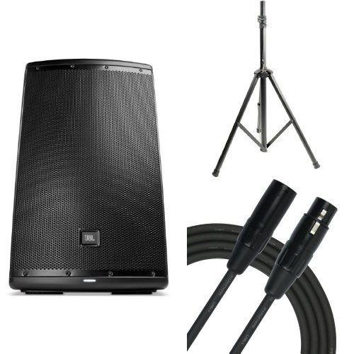 JBL Eon 615 15-Inch Two-Way Multipurpose Self-Powered Sound Reinforcement Bunde With 2 PYLE-PRO Stands and 2 Kirlin Cables by JBL