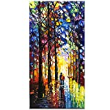 Fasdi-ART Paintings, 24x48 Inch Paintings,Oil Painting Landscape 3D Hand-Painted On Canvas Abstract Artwork Art Wood Inside Framed Hanging Wall Decoration Abstract Painting (DF019)