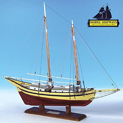 Model Shipways Wood Ship Kit Glad Tidings Pinky Schooner 1:24 Scale