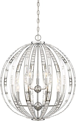 Minka Lavery Crystal Pendant Ceiling Lighting 2378-77 Palermo, 9-Light 540 Watts, Chrome ()