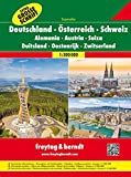 Germany / Austria / Switzerland Atlas with Extra Large Text: FBA035 (English, Spanish, French, Italian and German Edition)