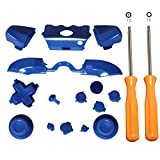 Xbox One Controller Parts, ENDARK Replacement LB RB LT RT ABXY Bumper Trigger Dpad Buttons Kit Set + T8 Screwdriver T6 Screwdriver for Xbox One Elite Controller (Blue)