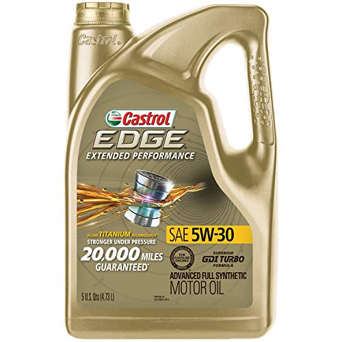 Castrol 03087 EDGE Extended Performance 5W-30 Advanced Full Synthetic Motor Oil, 5 Quart (Best Rated Motor Oil)