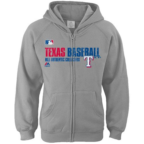 Majestic Texas Rangers MLB Girls Sizes 7-16 Team Favorite Full Zip Fleece Hoodie (Girls Xlarge 16)