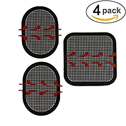 Gel Pads Replacement Unit Set Pack for All Abdominal Belts (black-4 sets of 12 pads)