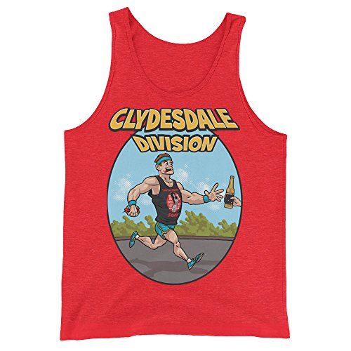 Red Top Division T-shirt - Tanks that Get Around Unisex/Men's Clydesdale Division Running Tank Top