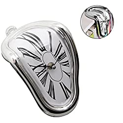 WantGor Desk Clock Novelty Melting/Time Warp Clock for Kitchen Bedside Bathroom