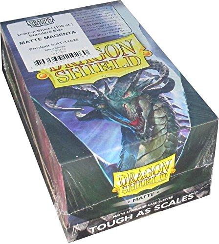 Magenta Case Shield Protector (Dragon Shield Matte Magenta Standard Size Card Sleeves Display Box [10 packs])