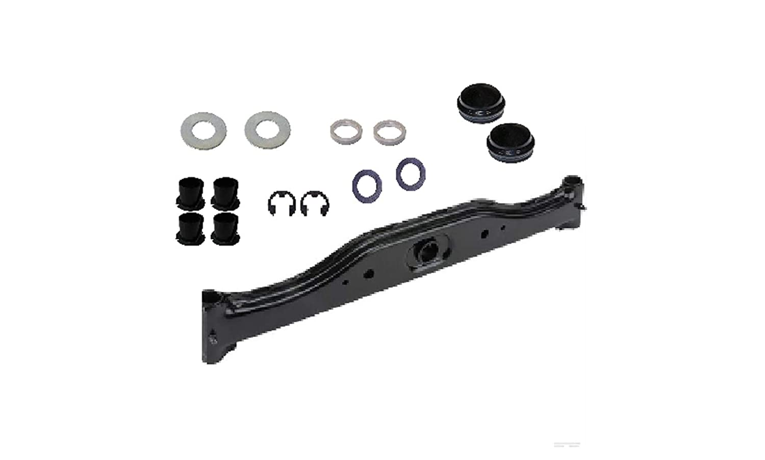 Craftsman 532418168 Front Axle Kit,(1) 532418168 axle,(4) 532003366 bearings (2) 532121748 washers,(2) 812000029 ring clips,(2) 819272016 washers,(2) 532006266 thrust washers,(2) 532121232 caps