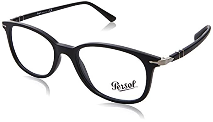 Amazon.com: Persol 0po3183 V-1041 Negro -52 mm Mens: Clothing