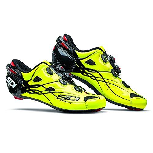 センサータイピスト投げるSIDI(シディ) SHOT(ショット) Road Cycling Shoes - Bright Yellow [並行輸入品]