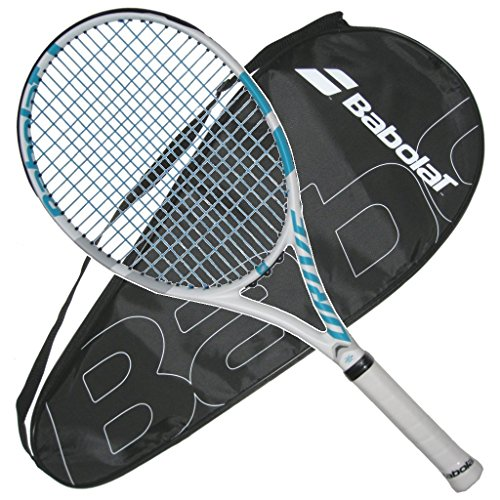 Babolat Drive G Lite Wimbledon Edition Tennis Racquet - Very Nice Looking Blue String and with Cover - Racket Lite Tennis