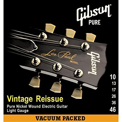 Gibson Vintage Reissue Electric Guitar Strings, Ultra Light 9-42