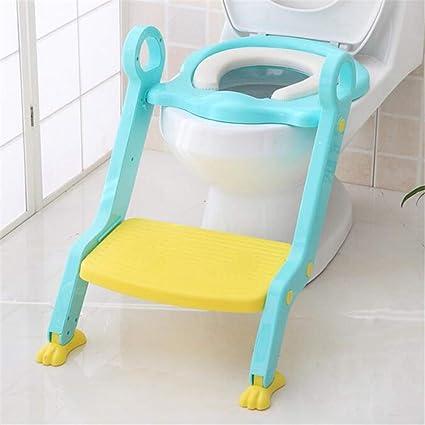 YICIX Reductor WC Silla para Escalera de Inodoro para bebé Asiento Orinal Step Up Entrenamiento para Inodoro para niños pequeños Taburete para niñas y niños,Blue: Amazon.es: Hogar