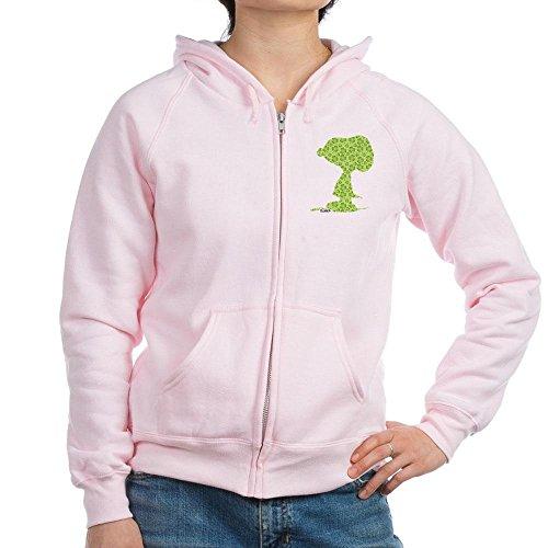 Clover Womens Zip Hoodie - CafePress - Snoopy Clover Pattern Zip Hoodie - Womens Zip Hoodie, Classic Hooded Sweatshirt with Metal Zipper