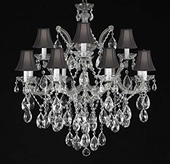 Maria Theresa Chandelier Crystal Lighting Chandeliers With Black Shades H30 X W28
