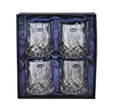 Amlong Crystal Lead Free Double Old Fashioned Crystal Glass, Set of 4