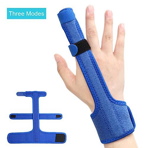 Upgrade Trigger Mallet Finger Splint, Triple Reinforcement Built-in Aluminium Support Trigger Straightening Finger Brace Finger Splint for Sprains, Pain Relief, Mallet Injury, Arthritis, Tendonitis