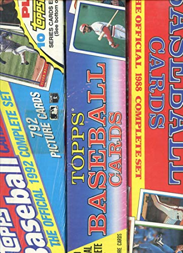 1988 1989 1992 Topps Baseball Card Complete Box Set Collection FACTORY SEALED from Topps