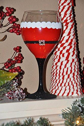 Hand Painted Santa Claus Wine Glass