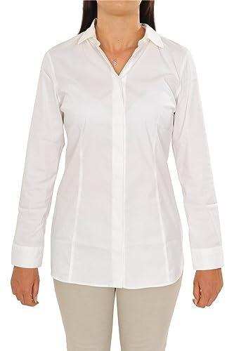 Brunello Cucinelli Blusa Mujer Blanco ajustado algodón casual M IT