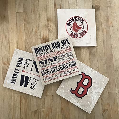 (Boston Red Sox Gift Coasters - Set of 4)