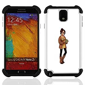 - smart girl sexy librarian sweater woman/ H??brido 3in1 Deluxe Impreso duro Soft Alto Impacto caja de la armadura Defender - SHIMIN CAO - For Samsung Galaxy Note3 N9000 N9008V N9009
