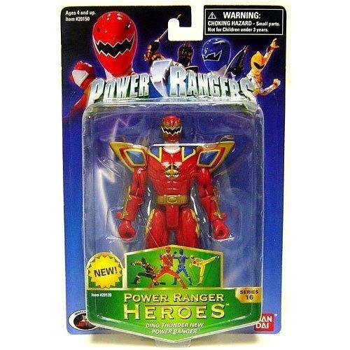 (Power Rangers Heroes Dino Thunder Series 16 Action Figure New Ranger (Maroon))