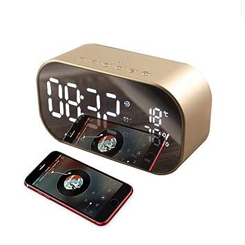 Reloj Despertador Digital, Reloj Alarma LED con Radio FM ...