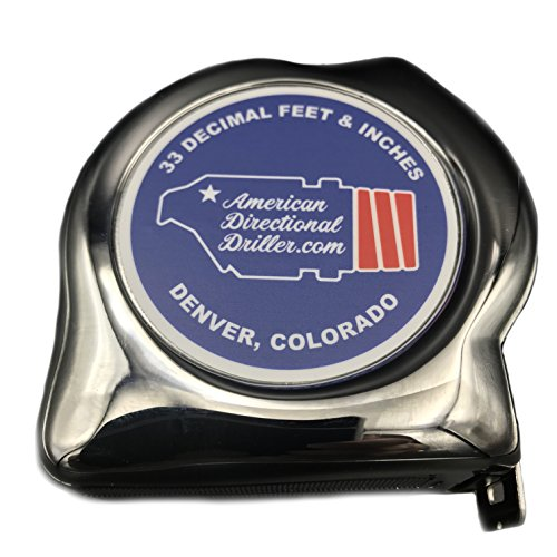American Directional Driller BHA Tape Measure, 33 Decimal Feet and Inches (Engineer) ()