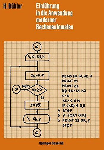 Einführung in die Anwendung Moderner Rechenautomaten (Lehrbücher der Elektrotechnik) (German Edition)