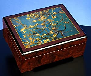 "Van Gogh""Almond Blossom 1890"" Musical Jewelry Box"