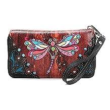 Blancho Bedding Womens [Colorful Dragonfly] PU Leather Fashion Bag Elegant Purse