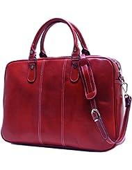 Floto Venezia Slim Red Briefcase Attache Lap-top Case