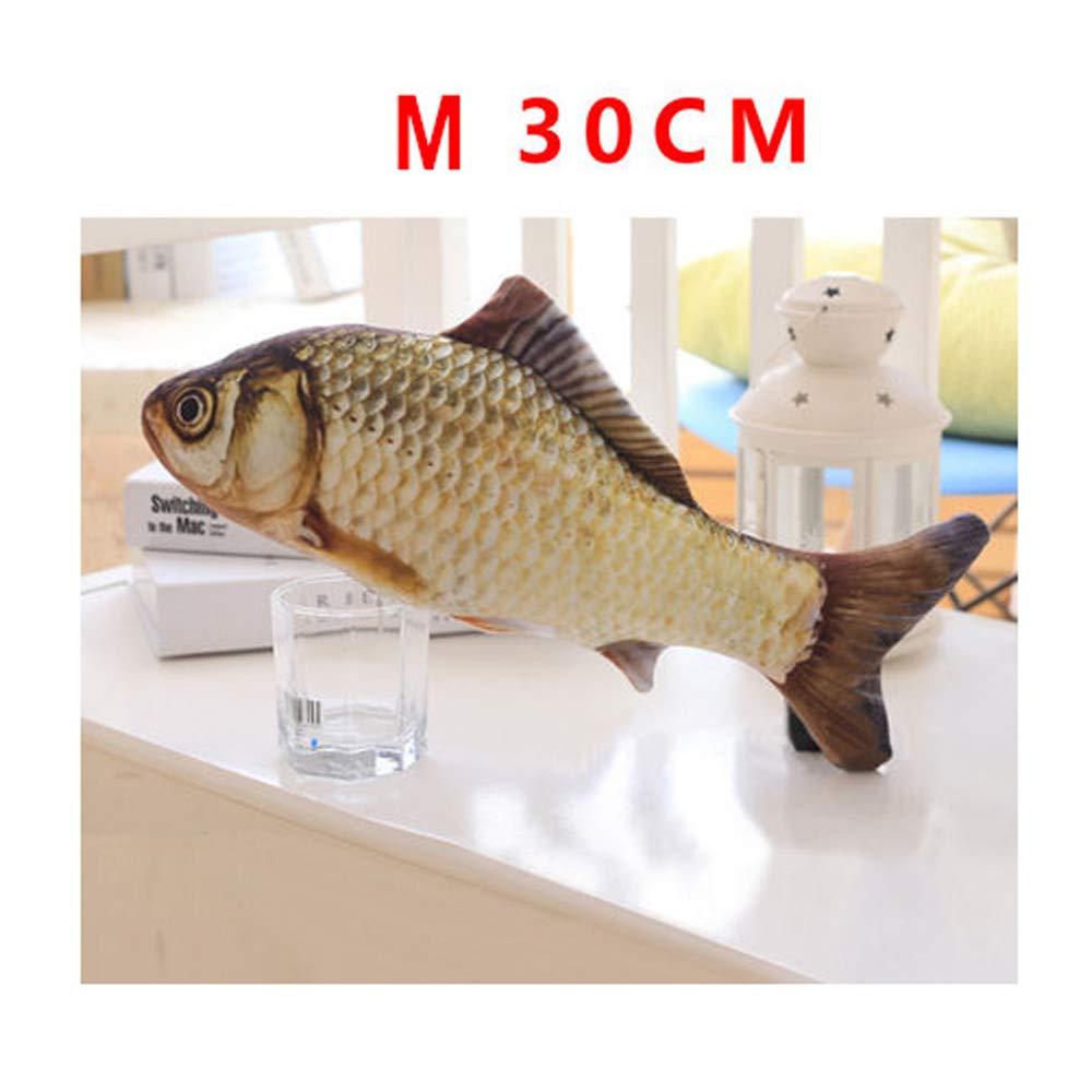 M LFpet Supplies Simulation cat bite Mint Fish Pillow pet cat Supplies (Size   S)